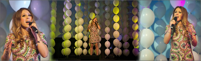 Stage backdrops of helium balloons for corporate events, Auckland
