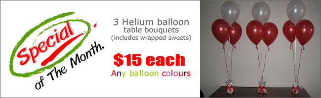 Dress your wedding tables with balloon bouquets for $15!