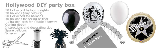 Hollywood Party Box For DIY