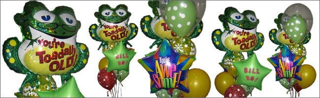 You're toaddally old giant balloon bouquet