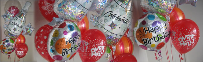 Birthday celebration balloon bouquet