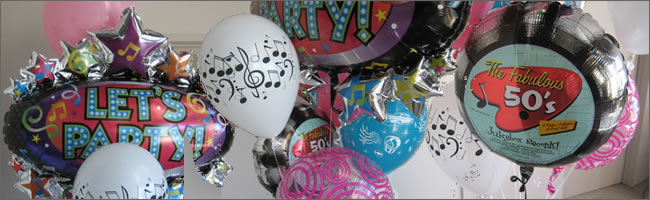 Send a giant Let's party! Balloon bouquet.