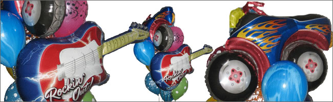 Rock and roll singing balloon bouquet