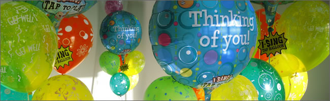 Thinking of you giant singing balloon bouquet gift