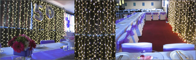 Fairy light backdrops and screens for hire, Auckland