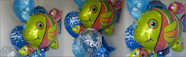 Giant fish balloons