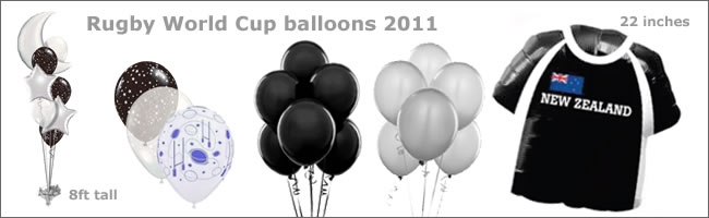 Rugby World Cup giant balloon bouquet gift and theming item, Auckland