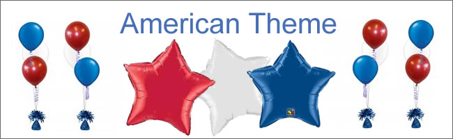American themed balloons, Helium Balloons & Event Hire